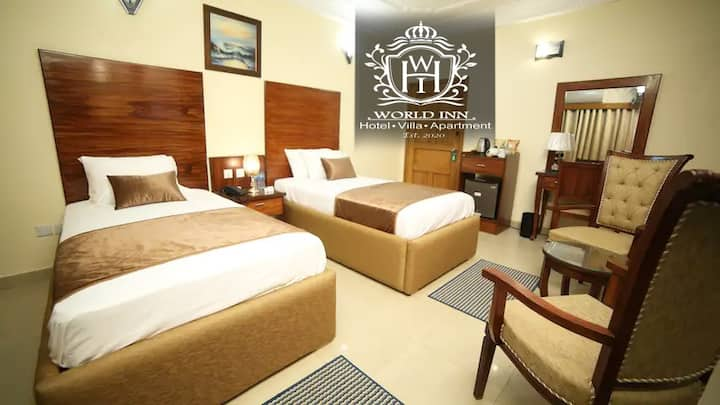 Deluxe Twin Room at World Inn Hotel Karachi