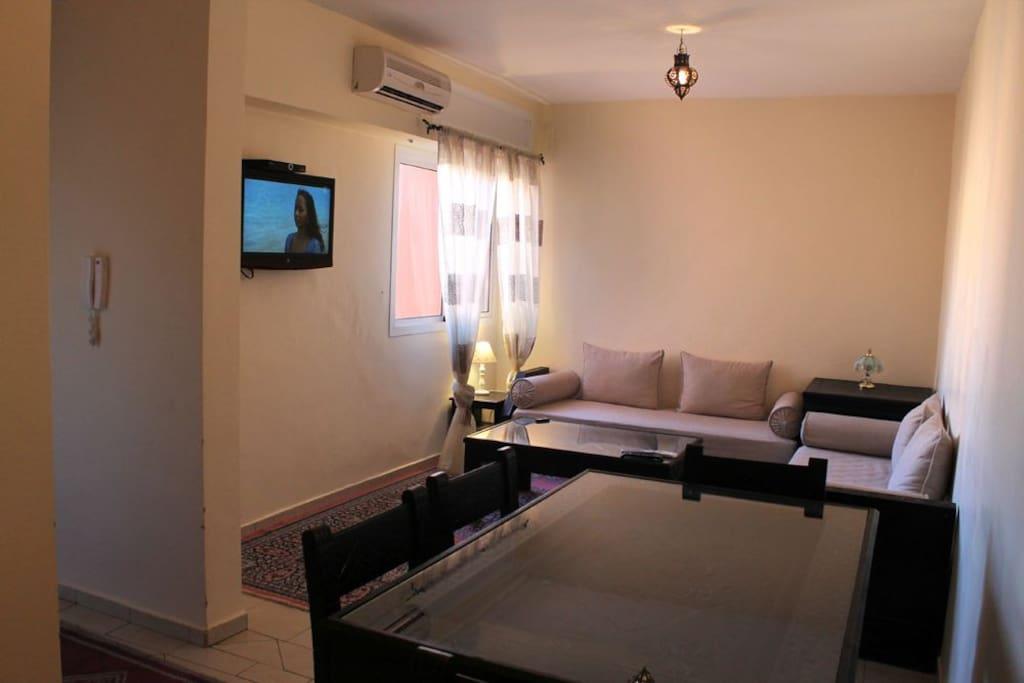 Le salon marocain.