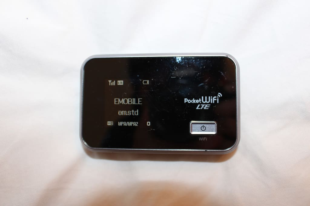 You can use a pocket Wi-Fi during your stay