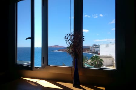 Room just by the ocean. Amazing views - Telde - Appartement