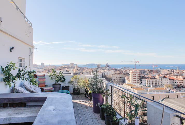 Dowtown Panoramic View Point Flat  - Marseille - Appartement