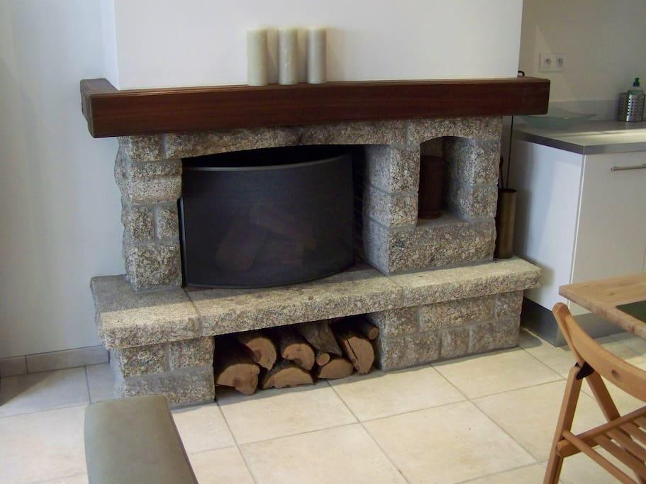 Fireplace for cosy nights ! / Cheminée pour des soirées douillettes !