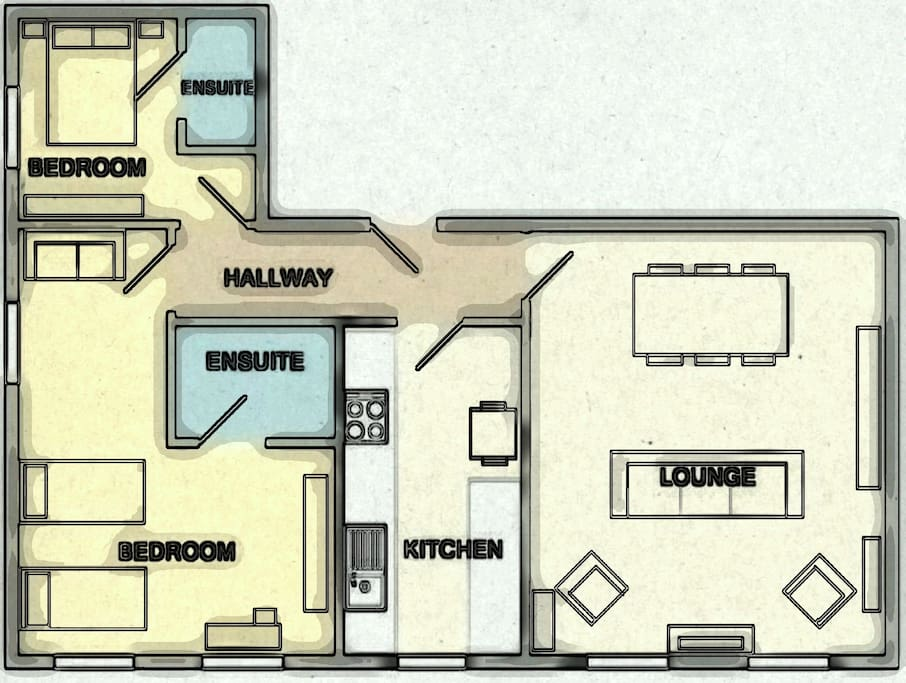 Layout of St Hilda's Apartment