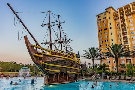 Disney/2B+2B Resort Firework Suite/Pirate Pool