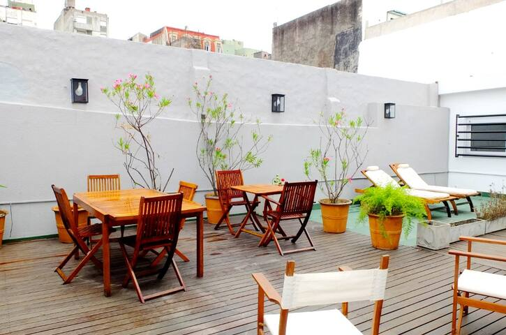Excellent terrace and patio! 3 BD, 2 BT