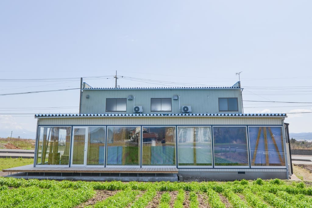 From the guesthouse, you can enjoy farm view and 360 degree of starry sky.