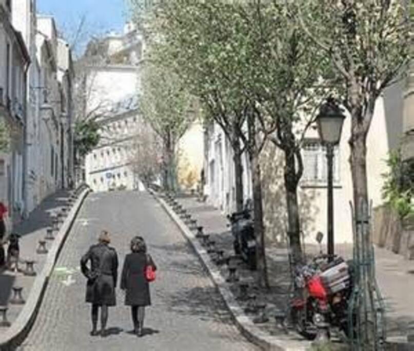 Le vieux Paris à portée de tram, de métro, vélo ou bus.
