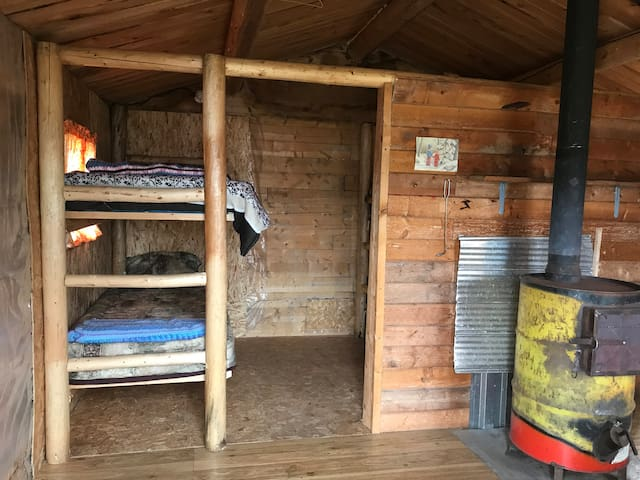 one set of bunk beds in the Little Sleeper