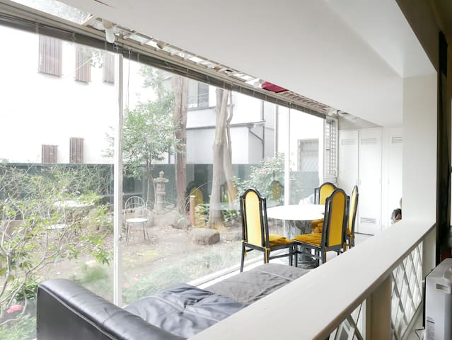 Private furnished rooms; garden, full kitchen