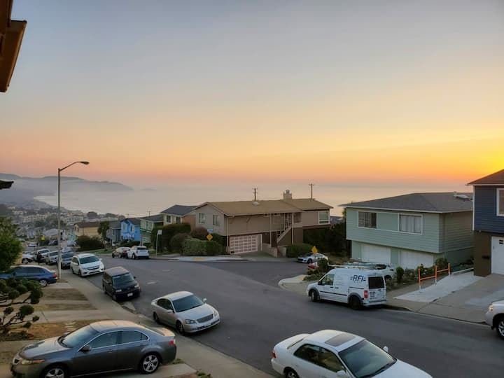 Oceanview 5bd/2ba:San Francisco Airport,beach,town