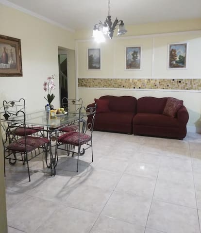 Living Room with 4 seater Dining Table