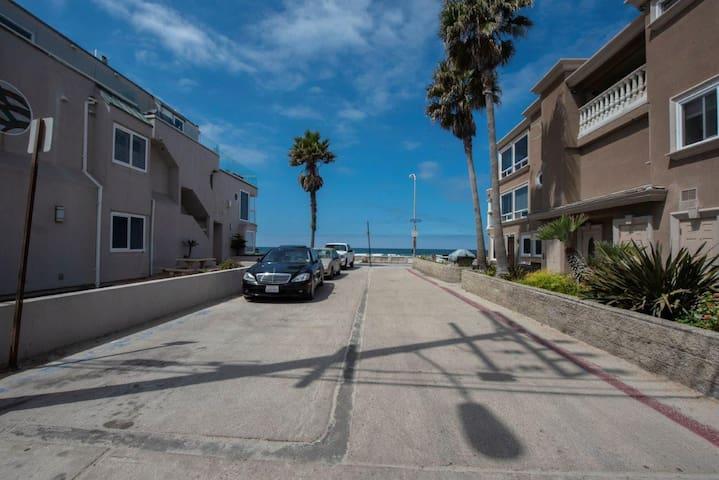 Street view of ocean
