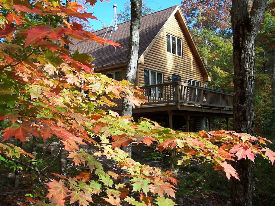 BIG WILSON CAMP gets its name from the scenic waterfall it faces. Leave the windows ajar at night and let the sound of rushing whitewater lull you to sleep!