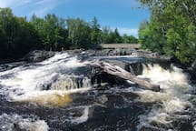 SCENIC FALLS - This is our back yard. For real. I wouldn't kid you!