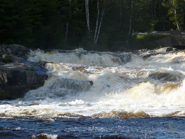 SPRING RUNOFF - The river shows off her might during May snowmelt.