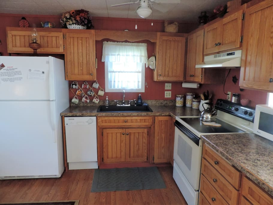 - Open Kitchen with View of River -