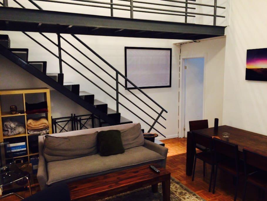 Unique duplex apartment.