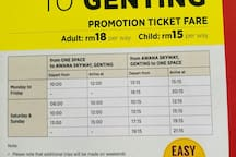 Schedule bus goto Genting Highland.