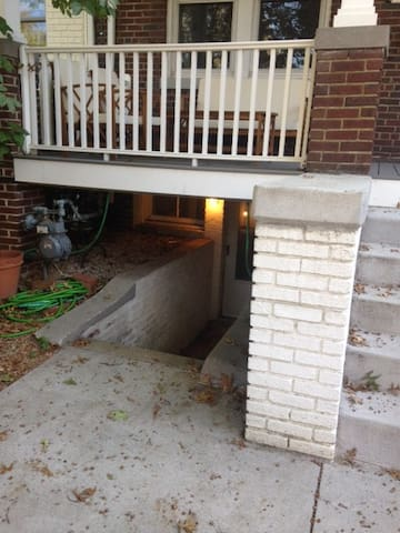 Front entrance to apartment.