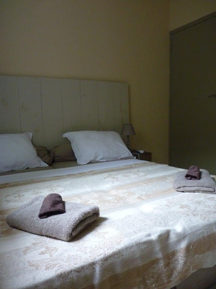 Chambre du'ô gîte villa d'ô, vue  lagon