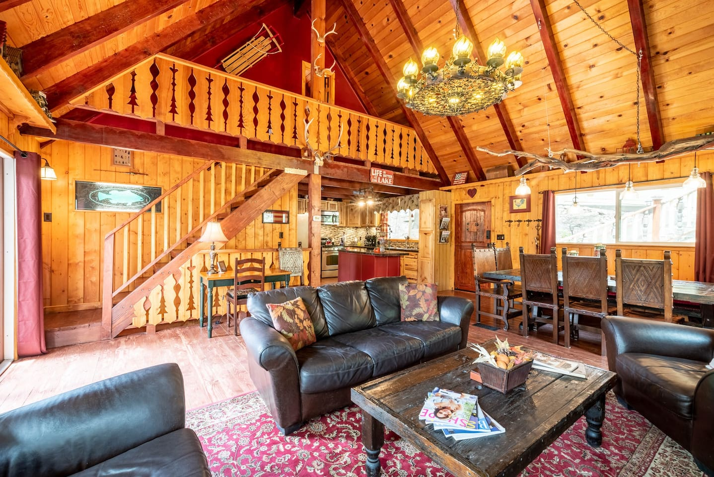 "Greg said, ""THE TREE HOUSE CHALET IS A COMPLETE TREASURE! COZY TO THE CORE! IT IS FILLED W/ ANYTHING & EVERYTHING YOU MAY NEED FOR A GREAT STAY! IT IS SPACIOUS & BEAUTIFULLY & THOUGHTFULLY DECORATED! THE LOCATION IS GREAT & THE HOSTS ARE WONDERFUL!"