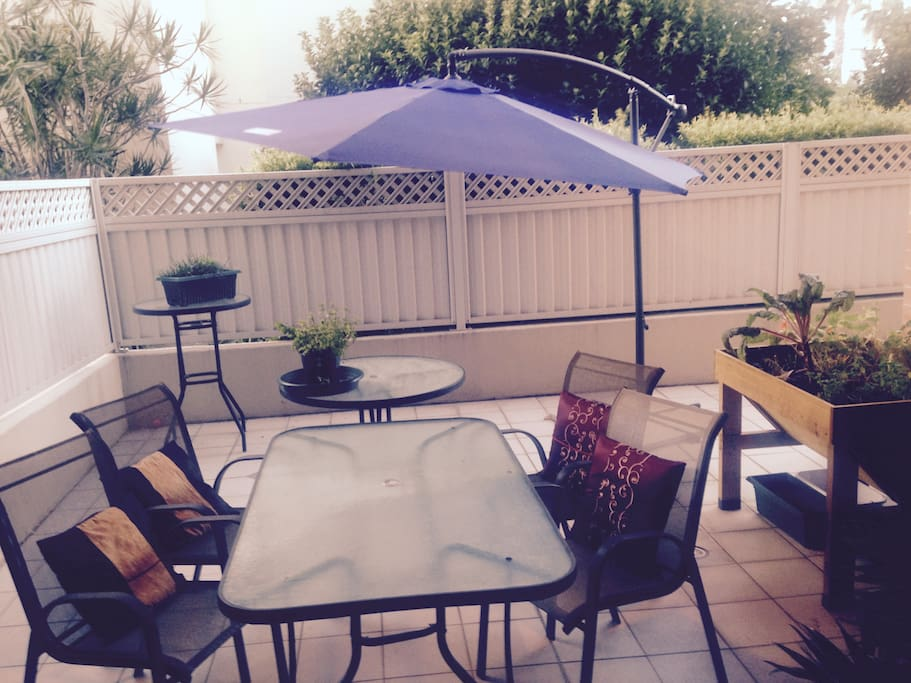 Access to the patio to sit in the sun and relax.