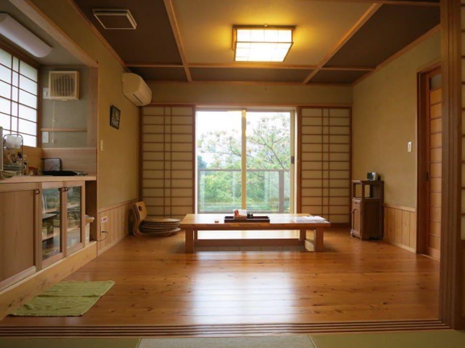 足湯のある和室 Japanese-style room with foot-bath