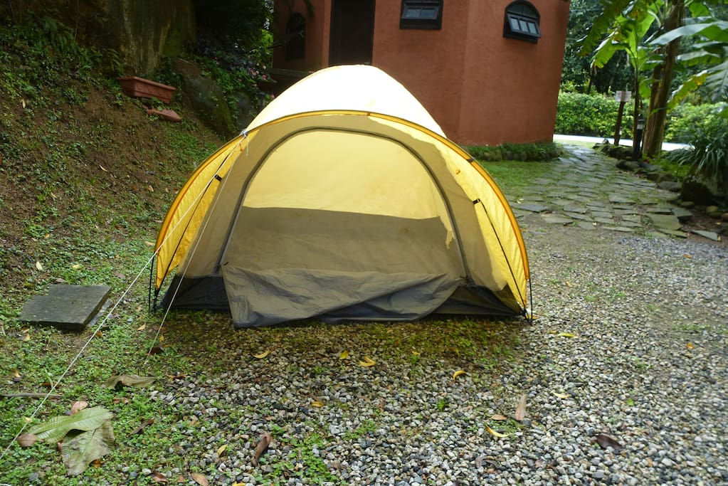 Barraca de camping.