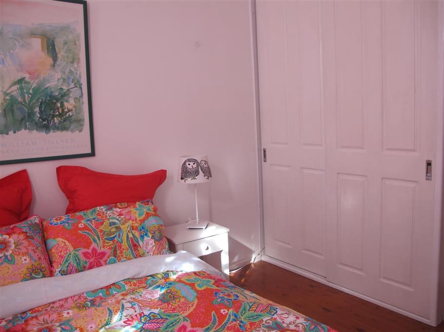View of room with wardrobe.