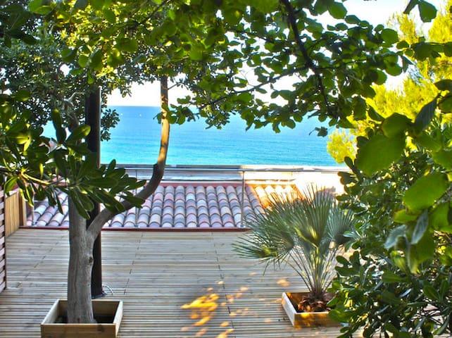 Maisonnette, front de mer, terrasses