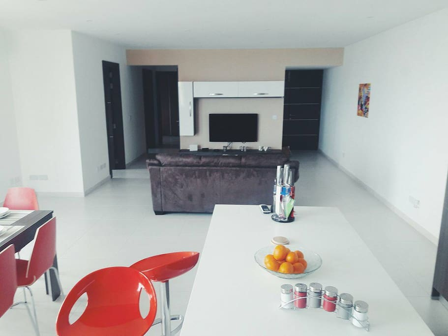 Large Open plan living room / Kitchen