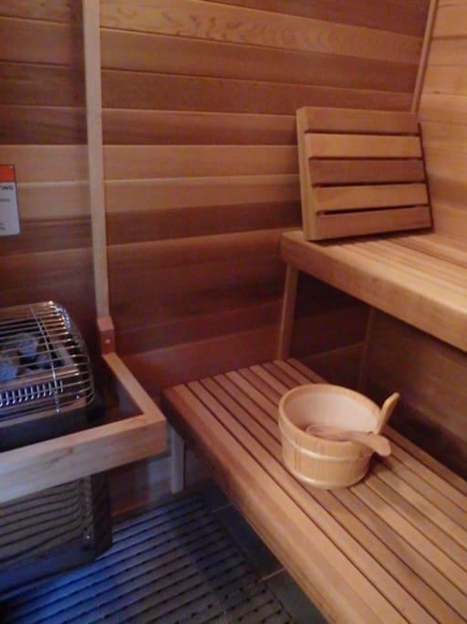 Electric Sauna (seats 4-6 people)