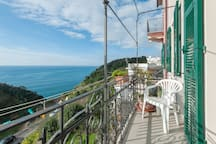 the balcony and the beautiful sea view