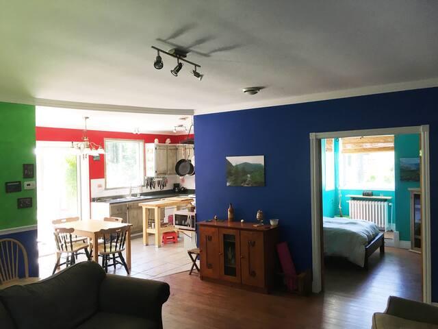Maison de campagne coloré