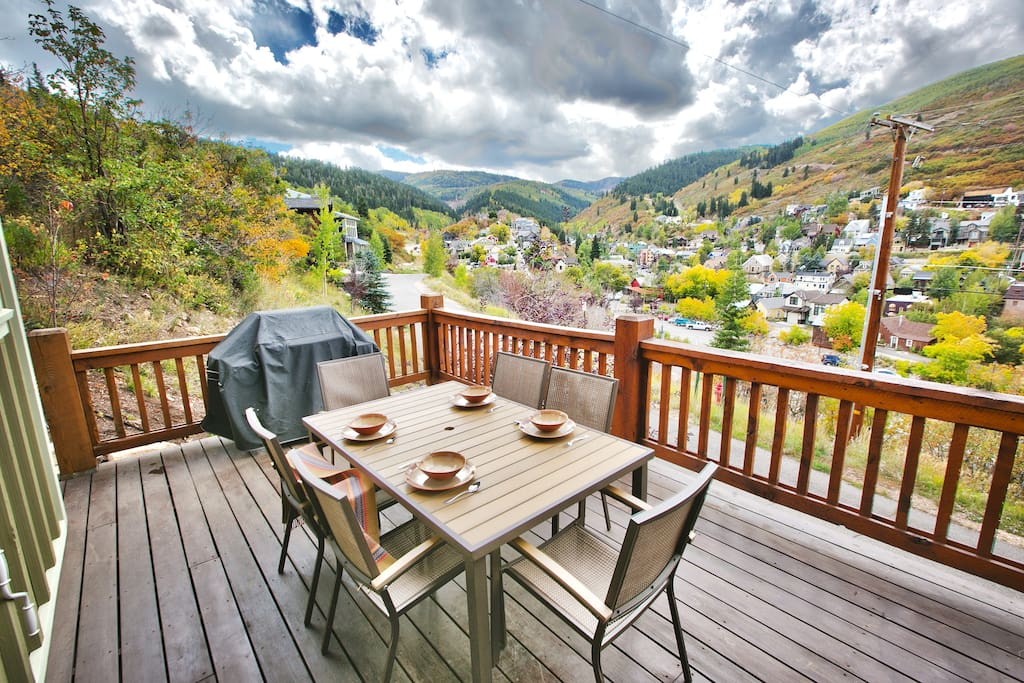 2nd Level Deck with BBQ and Huge Views of Deer Valley, Old Town & Park City Mountain Resort