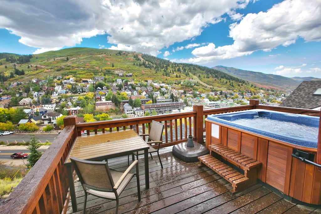 4th Level Deck with 5 Person Hot Tub and Huge Views of Park City and Old Town