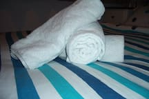 Fresh towels provided