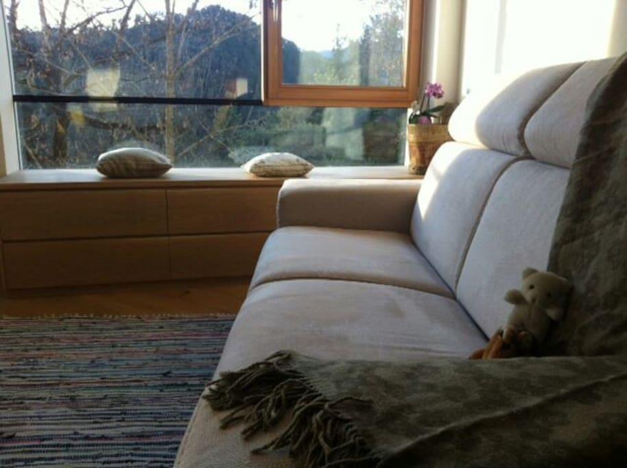 comfortable couch / il comodo divano letto