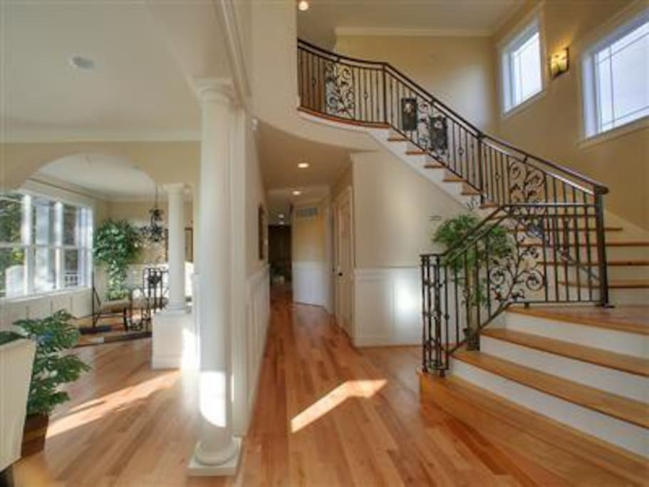 entryway. hardwoods throughout home.