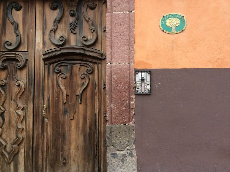 Safe, Secure and very private .. Antique street door leading to  this lovely brand new renovated apartment