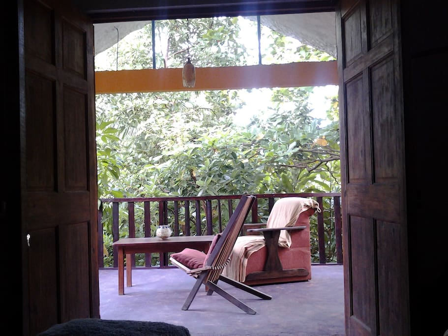 Gorgeous view from the main bedroom where you can witness wildlife firsthand!