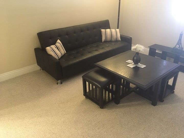 Spacious private one bedroom