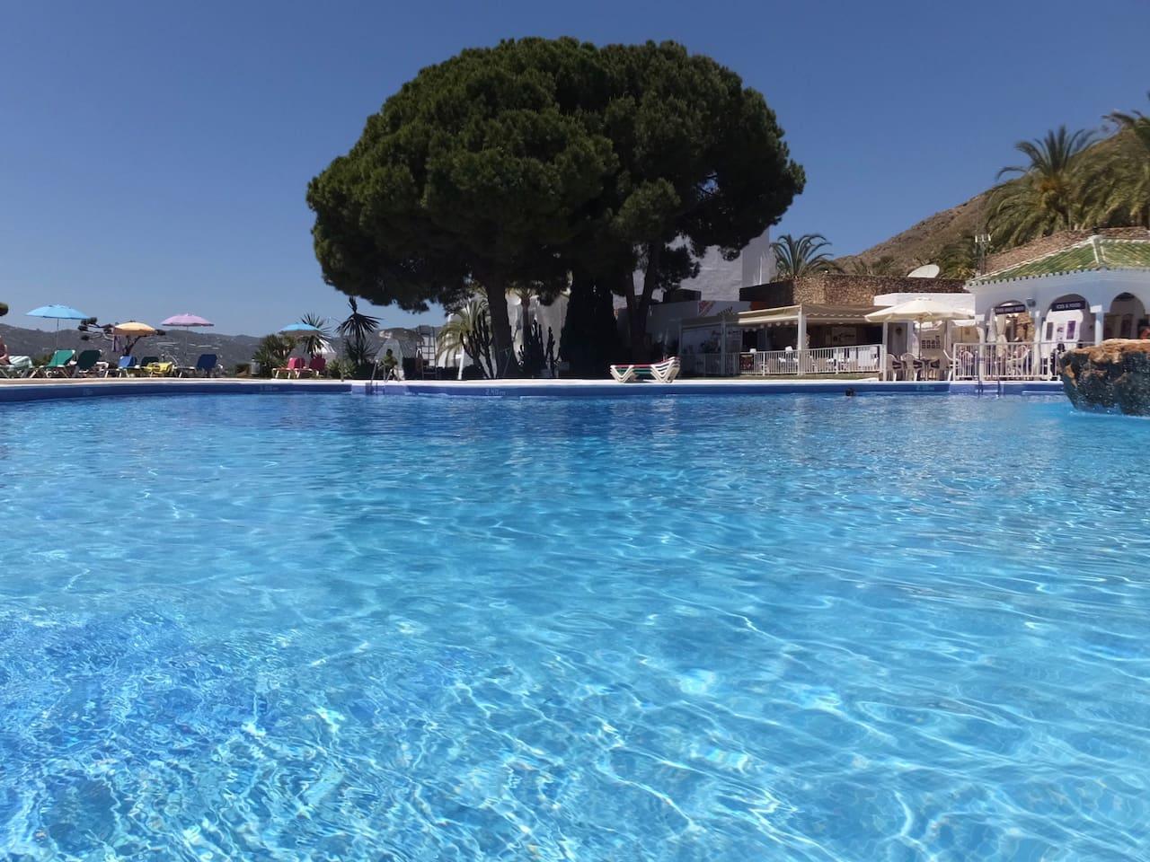 Pool with pool bar/restaurant