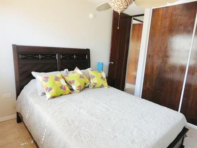 ::Bedroom with Queen size bed::