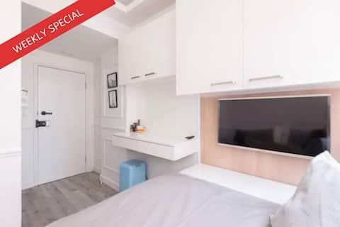 24% off - Cozy Studio Near Subway with Wifi LT4