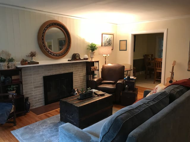 Enjoy the shared living room, kitchen, and dinning area.