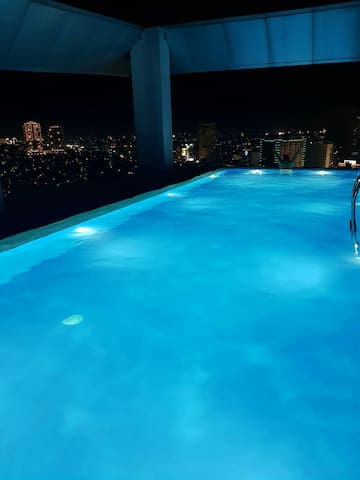 Night Time at the Infinity Pool