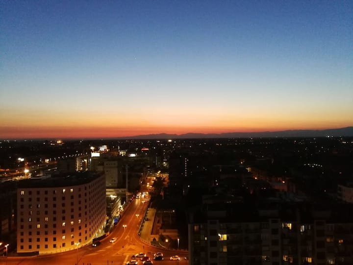 Stunning Sunset from our terrace above the sky