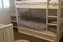 Bed 2 - bunks with trundle and cot