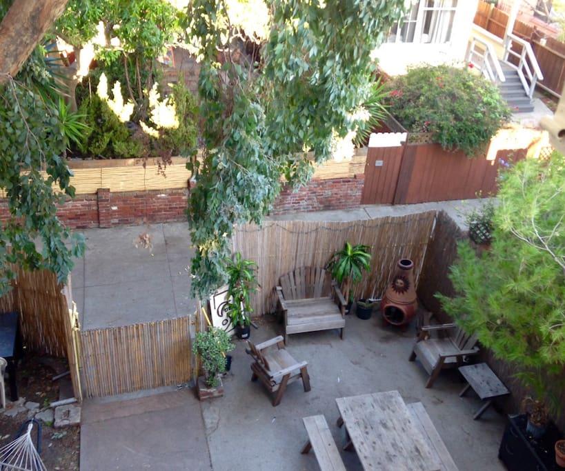 Front yard from loft window